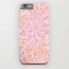 Pink Pastel Flowers iPhone 6 Slim Case