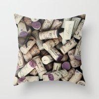 Corks Throw Pillow