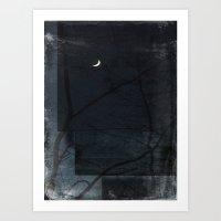 Night Of Layered Greys Art Print