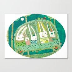 Rabbit journey Canvas Print