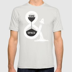 Time & Space SMALL Mens Fitted Tee Silver