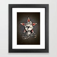 Up The Revolution! Framed Art Print