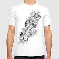 Sugar Skull Queen Mens Fitted Tee White SMALL
