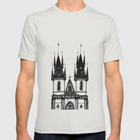 Tyn Church - Prague Mens Fitted Tee Silver SMALL