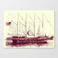 Never Sail Under False C… Canvas Print