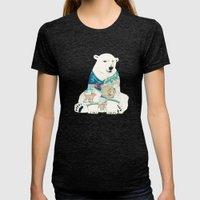 Polar Bear Womens Fitted Tee Tri-Black SMALL