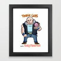 Tough Guys With Baby Pok… Framed Art Print