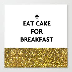 Kate Spade - Cake for Breakfast Canvas Print