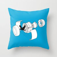 Jet Engine victim Throw Pillow