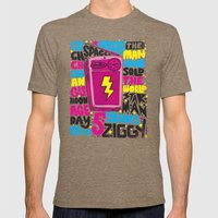 STARMAN Mens Fitted Tee Tri-Coffee SMALL