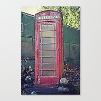 Old Telephone Booth Canvas Print