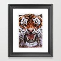 Roar Tiger 914 Framed Art Print