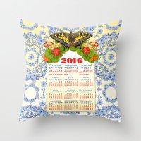 2016 Decorative Calendar Throw Pillow