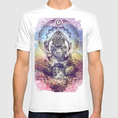Buddha  SMALL White Mens Fitted Tee
