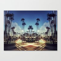 X Marks the Spot (Blue) Canvas Print
