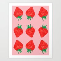 Strawberry Motif, 2013. Art Print