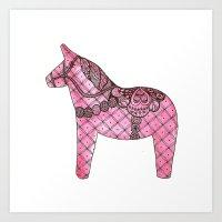 Darling Dala Horse Art Print
