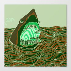 Piano Shark Canvas Print