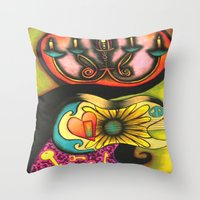 Guitar- Revolutionaries Throw Pillow