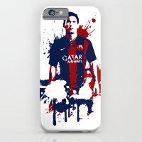 iPhone & iPod Case featuring Lionel Messi by Søren Schrøder