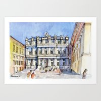 Palazzo ducale a Genova - color version Art Print