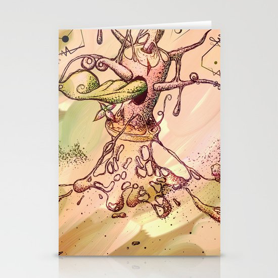 Magic Beans (Alternate colors version) Stationery Card