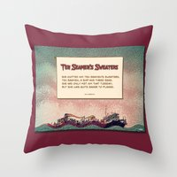 Ten Seamen's Sweaters Throw Pillow