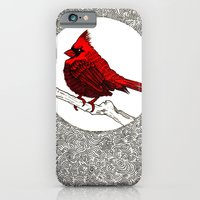 iPhone & iPod Case featuring A Red Cardinal by Hopler Art