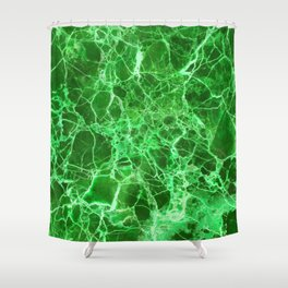 Shower Curtain - Emerald green marble - Santo Sagese