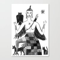 Ishtar, Queen Of The Nig… Canvas Print