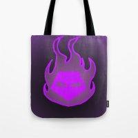 Hot Headed (Purple) Tote Bag