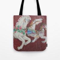 Carousel Race Tote Bag