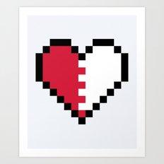 Pixel Heart Broken Art Print