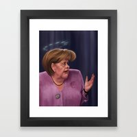 Angela Merkel Framed Art Print