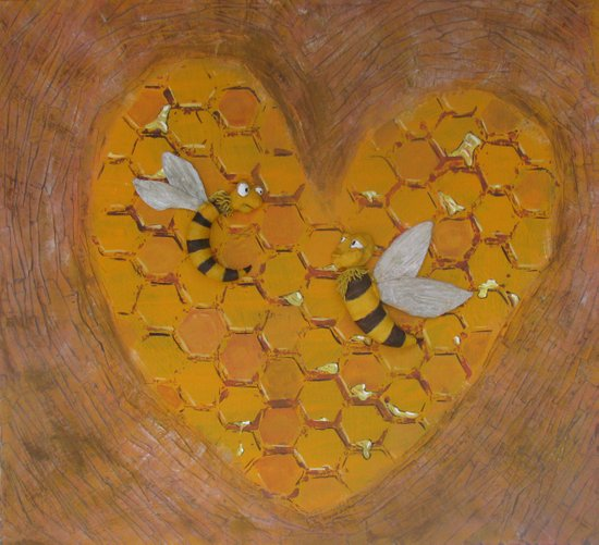 Hunie Bee Art Print