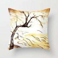 landscape Blossom Throw Pillow