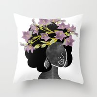 Wildflower Crown II Throw Pillow
