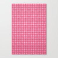 Dark Pink Spotty Pattern Canvas Print
