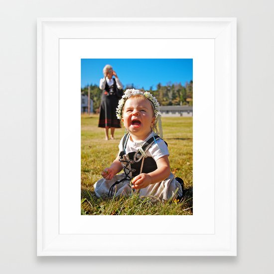 Happy baby Framed Art Print