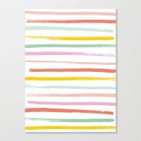 Fruit Stripes Canvas Print