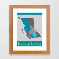 British Columbia Map Print Framed Art Print