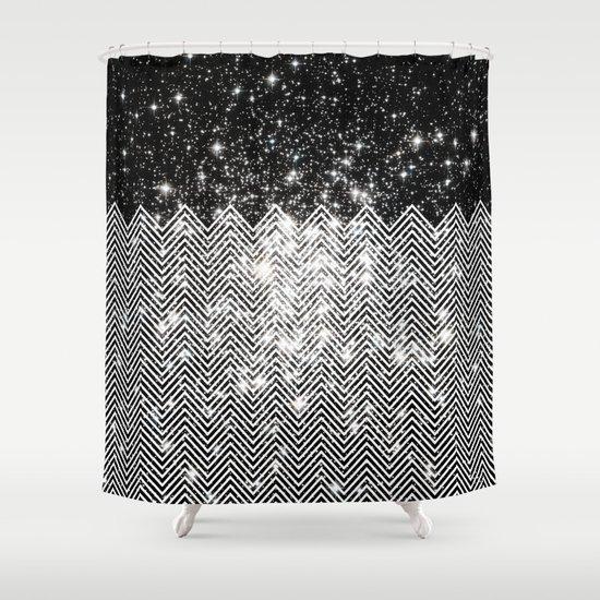 best glitter chevron shower curtain