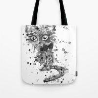 Splatter Kitty Tote Bag