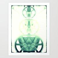 Oil the wheels Art Print