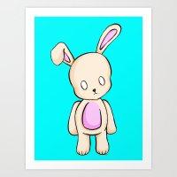 A Tiny Bunny Art Print