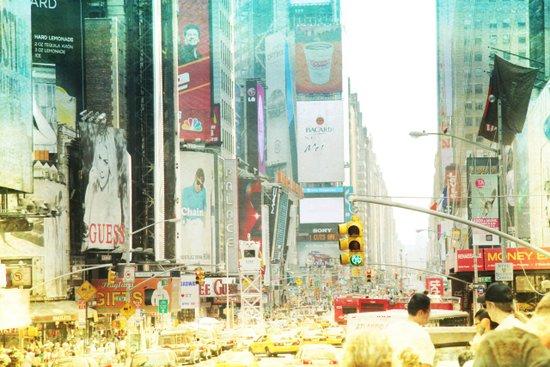 time square _ new york city Art Print