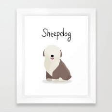 Sheepdog - Cute Dog Series Framed Art Print