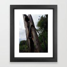 Peg Framed Art Print