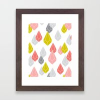 Raining Gems - Enchanted Framed Art Print