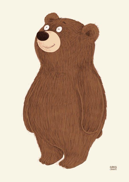 Simple Bear Art Print